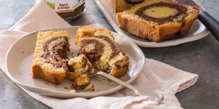 Cake marbré au Nocciolata