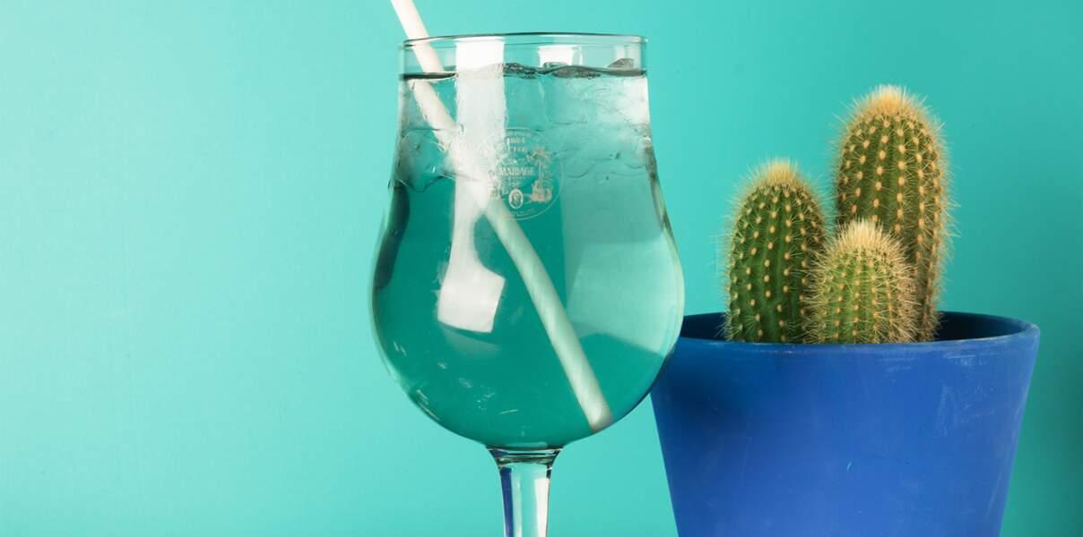 Cocktail pour le Poissons : un Granizado au thé Cactus Bleu®