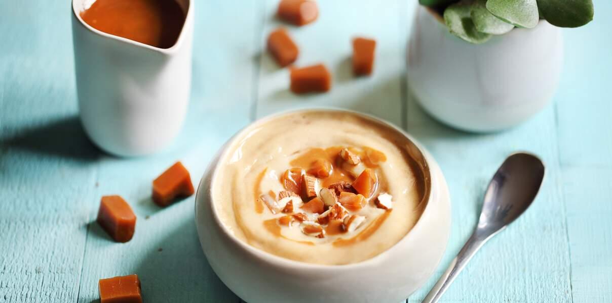 Frozen smoothie au caramel