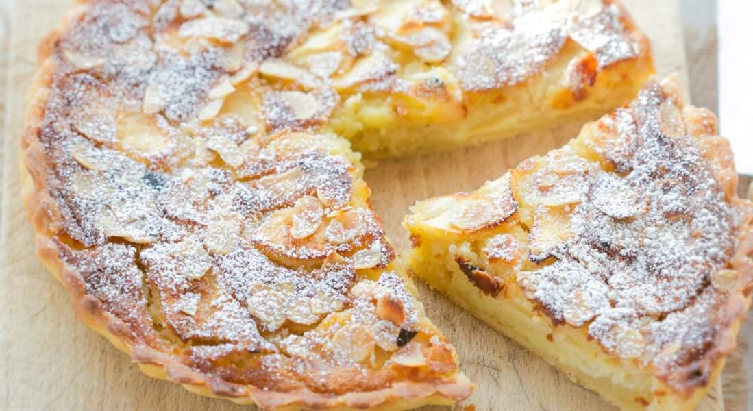 Tarte normande aux pommes et aux amandes