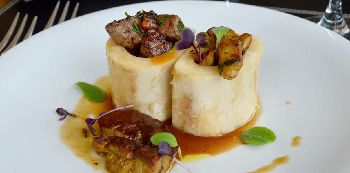 Os à moelle de bœuf de Chalosse au foie gras de canard fermier des Landes