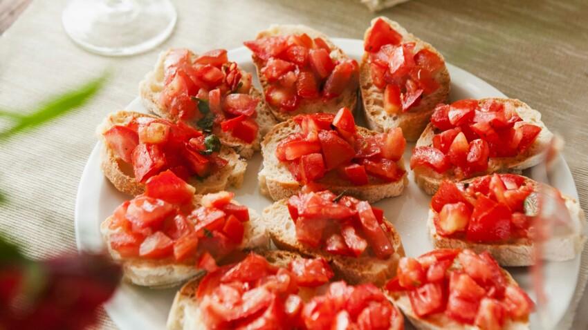 Bruschetta et gressins au jambon de Parme