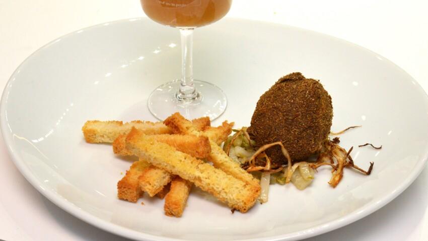 Œuf mollet frit à la saveur d'Ostende