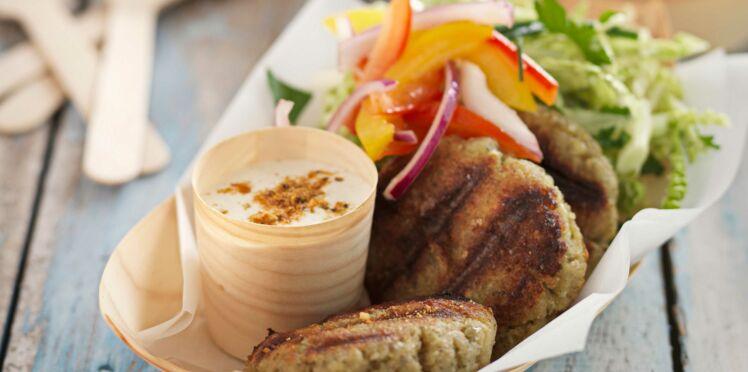Falafels grillés et sauce au yaourt