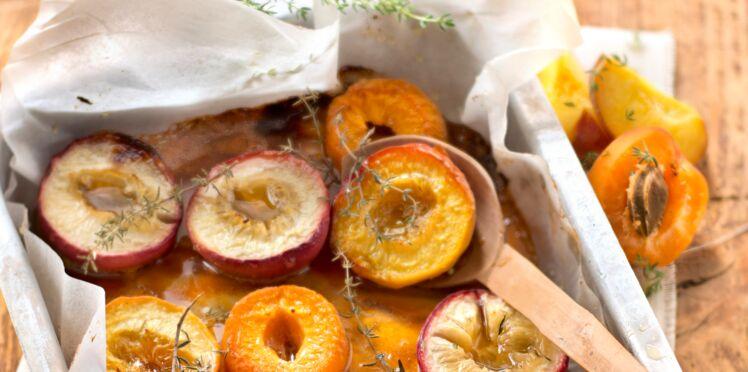 Fruits jaunes rôtis au thym