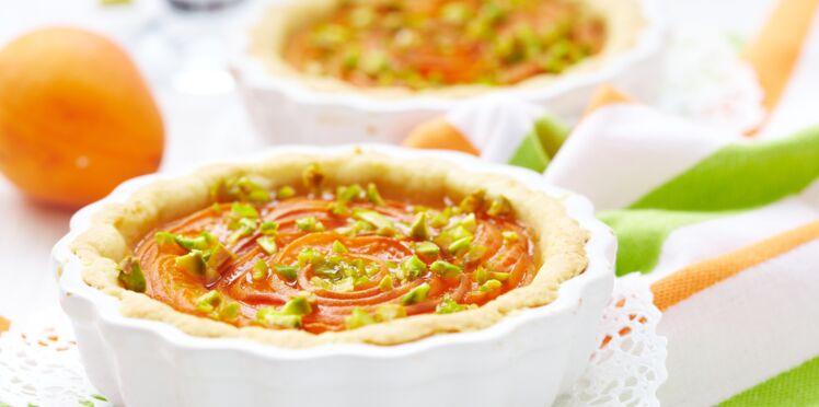 Tarte abricot et pistaches