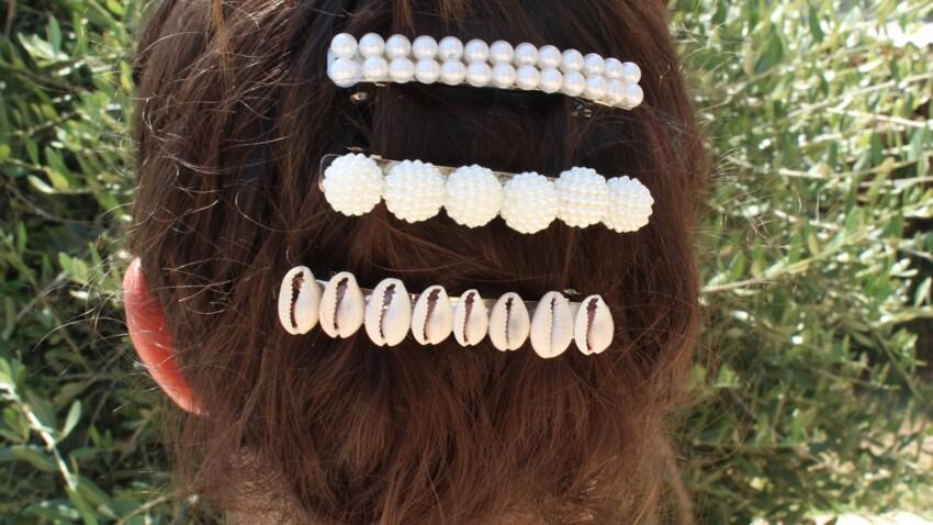 Tuto : 3 barrettes à faire avec des perles et des coquillages