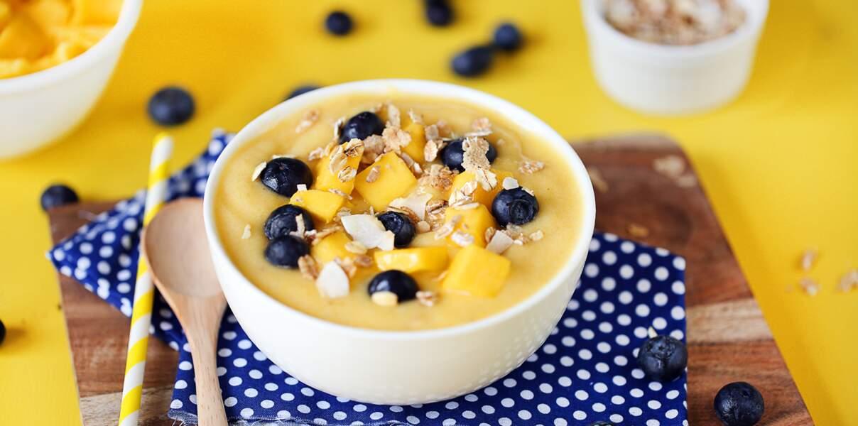 Frozen smoothie banane-mangue-ananas