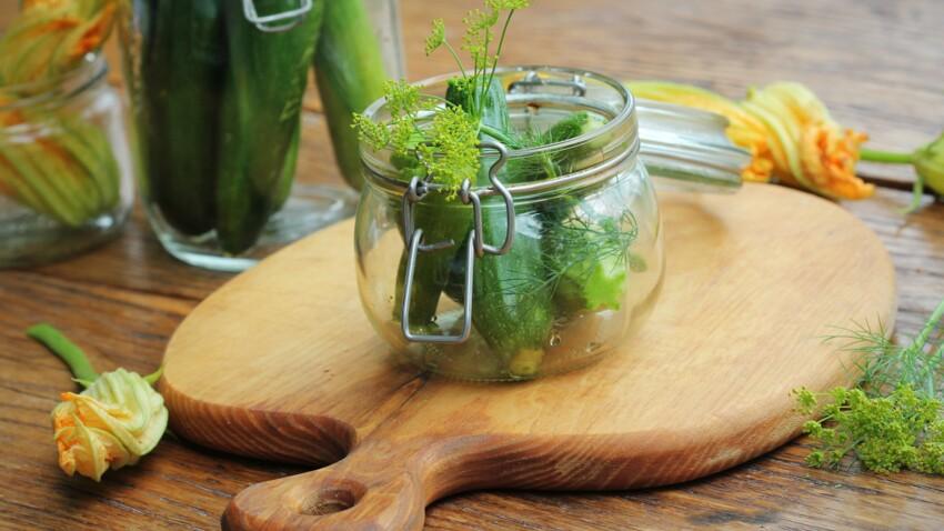 Faire ses conserves de courgettes : crues, au vinaigre, grillées