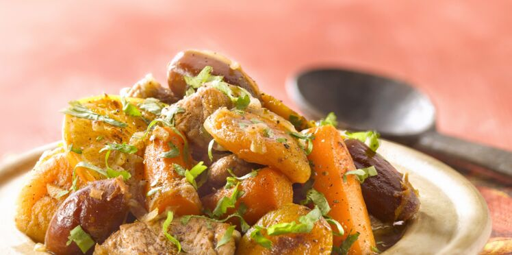 Tajine de veau aux abricots