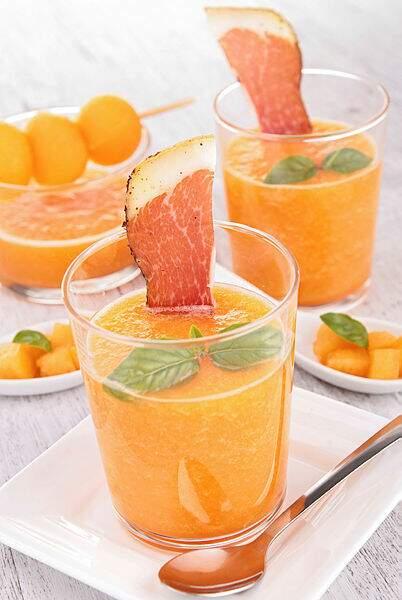 Gaspacho melon-basilic