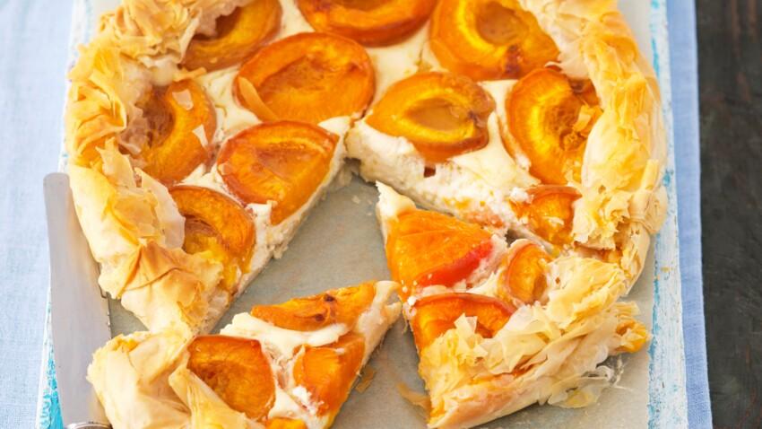 Tarte cheesecake aux abricots