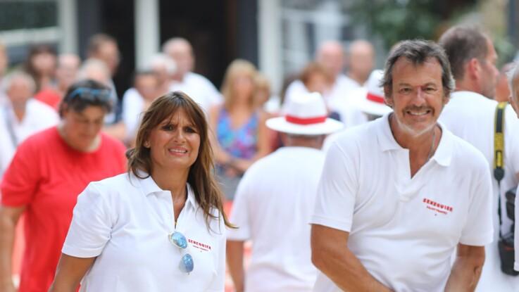 PHOTOS - Jean-Luc Reichmann et sa femme Nathalie Lecoultre, amoureux et complices à un concours de pétanque