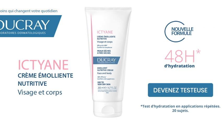 Testez la crème émolliente nutritive visage et corps Ictyane de DUCRAY