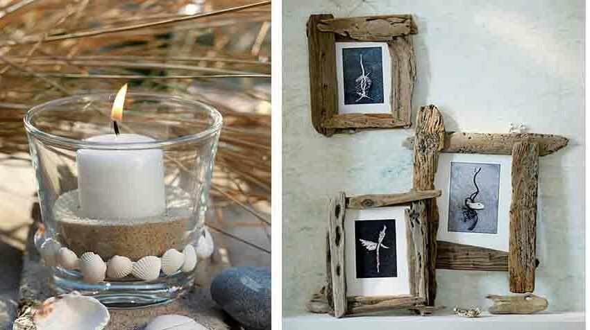 Cadres, photos, décoration de table : 6 idées faciles en coquillage et bois flotté