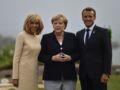 Une photo de Brigitte et Emmanuel Macron avec Angela Merkel associée à un célèbre club libertin