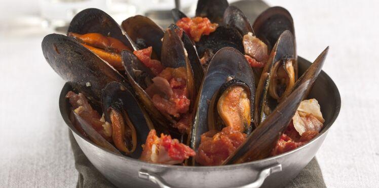 Moules à la fondue de tomates