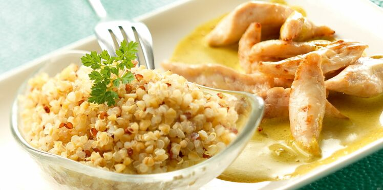 Quinoa Gourmand et poulet sauce curry