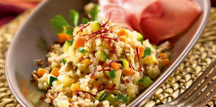Risotto de quinoa gourmand légumes et jambon de Parme