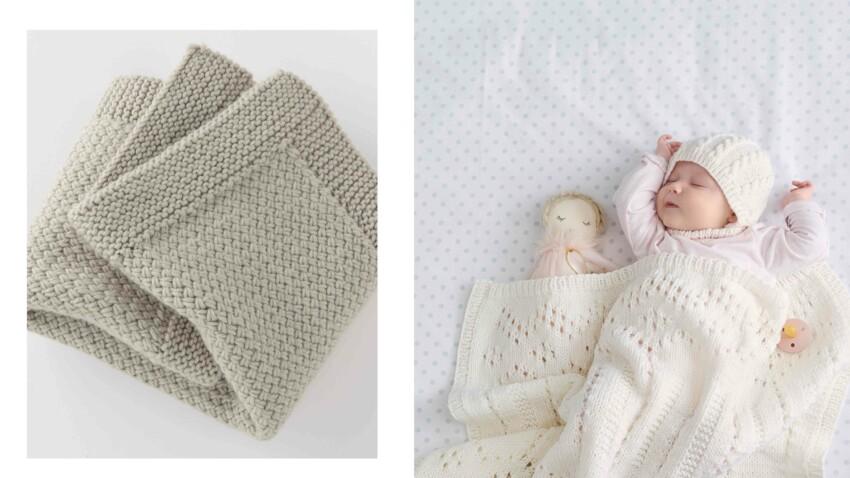 Tricot gratuit : Le plaid bébés Restos du Cœur