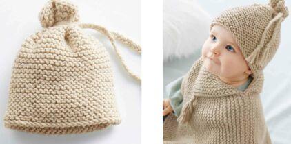 Tricot Gratuit Le Bonnet Enfant En Côtes Femme Actuelle