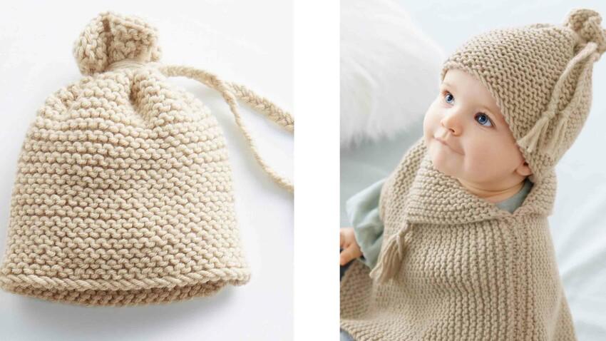 Tricot gratuit : Le bonnet bébés restos du Cœur