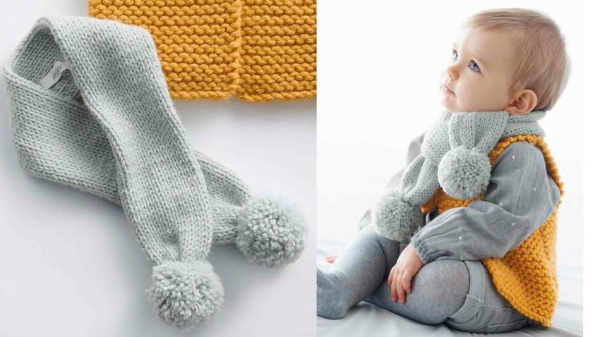 Tricot gratuit : l'écharpe bébés restos du cœur