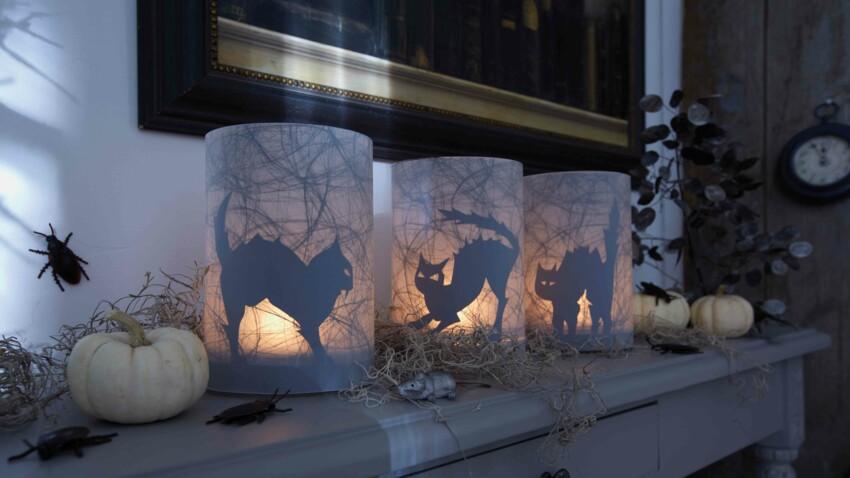 DIY halloween : un photophore chat facile et rapide