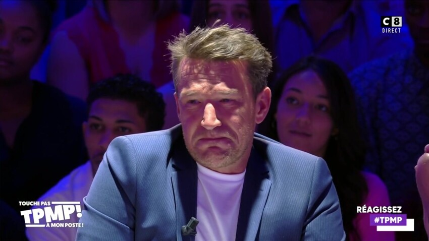 """""""Touche pas à mon poste"""" : Benjamin Castaldi, en larmes, craque en direct et demande pardon à son fils"""