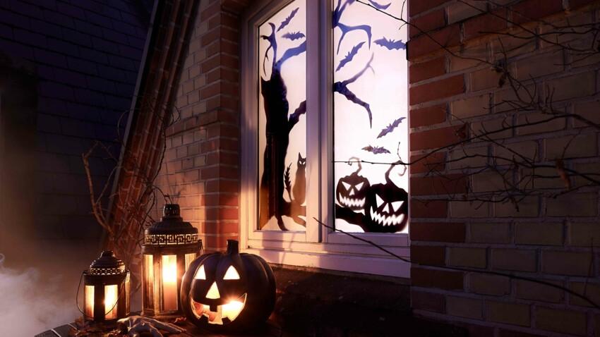 DIY express pour halloween : des décors de fenêtre en papier