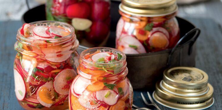 Pickles de radis et carottes