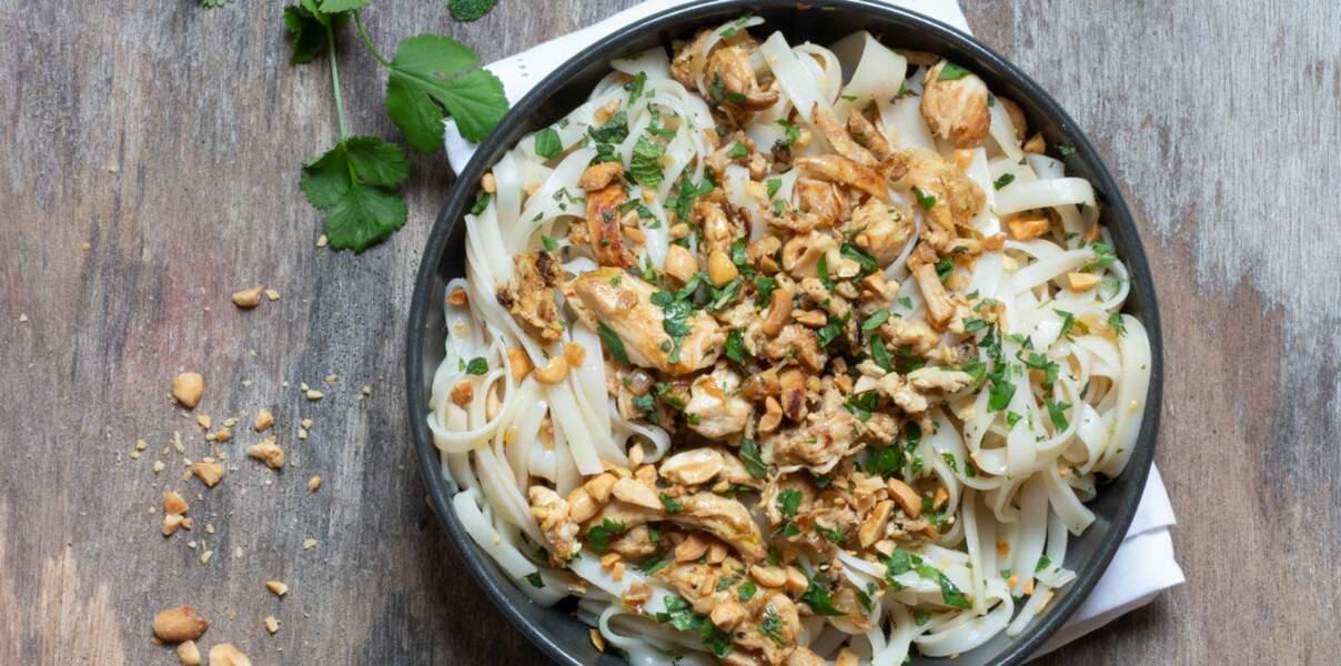 Pad thaï aux nouilles de riz