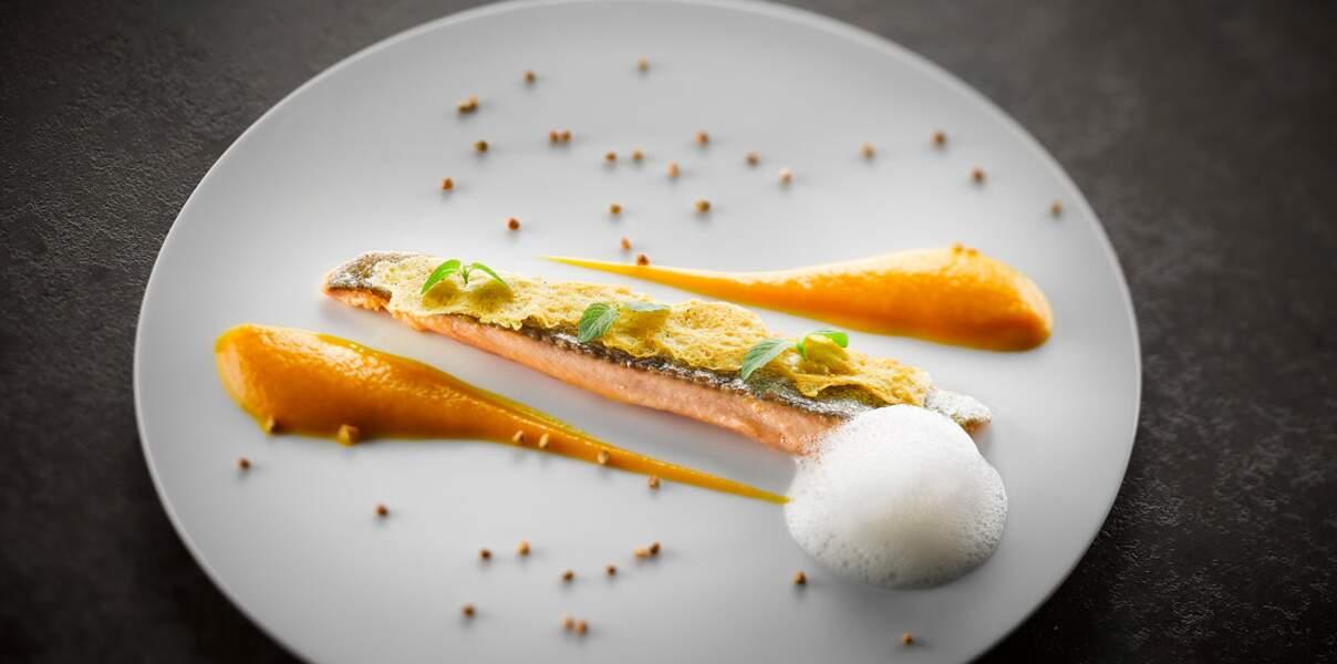 Croustillant d'abondance, truite et carottes