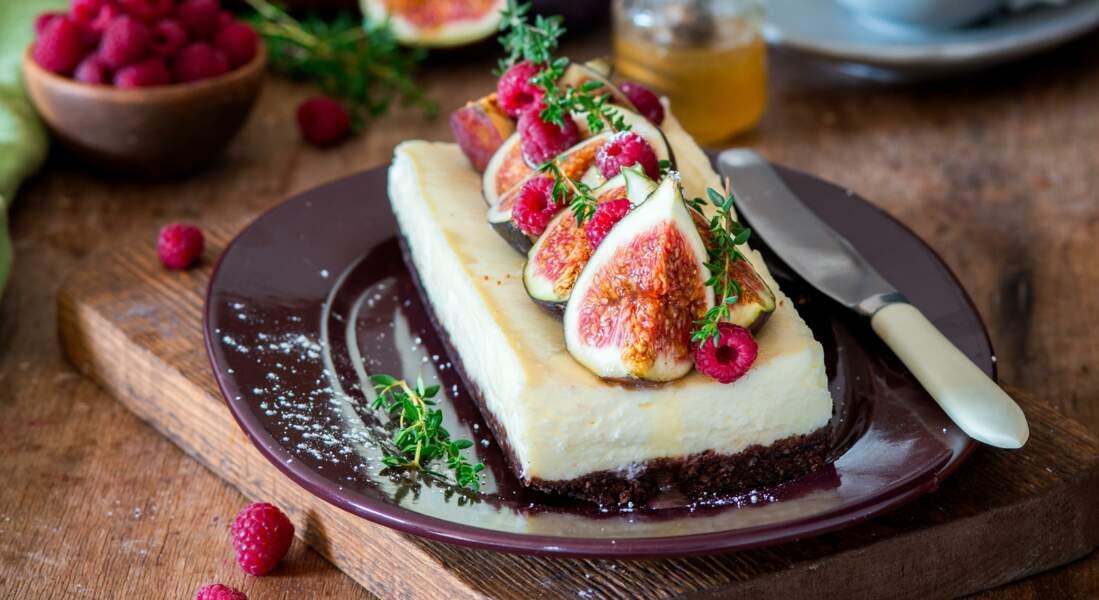 Cheesecake d'automne figues, framboises, ricotta et Philadelphia®