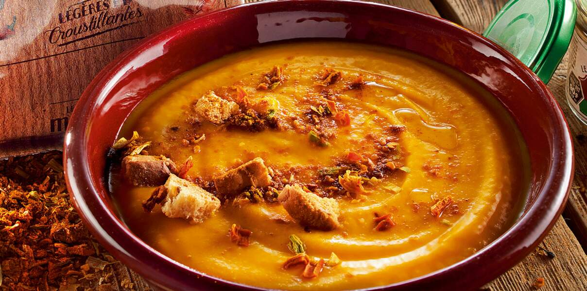 Soupe d'automne, courge et épices texanes