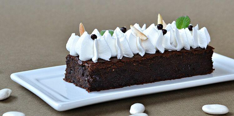 Brownies haricots tarbais, chocolat, crème soja et amande