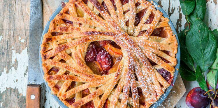 Tarte aux prunes, spéculoos et cannelle