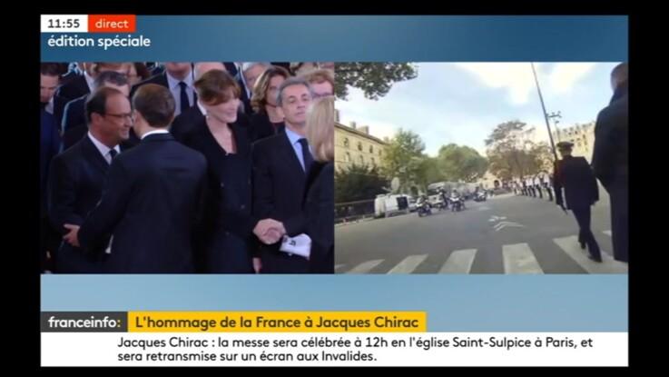 Obsèques de Jacques Chirac : cette poignée de main glaciale entre François Hollande et Emmanuel Macron