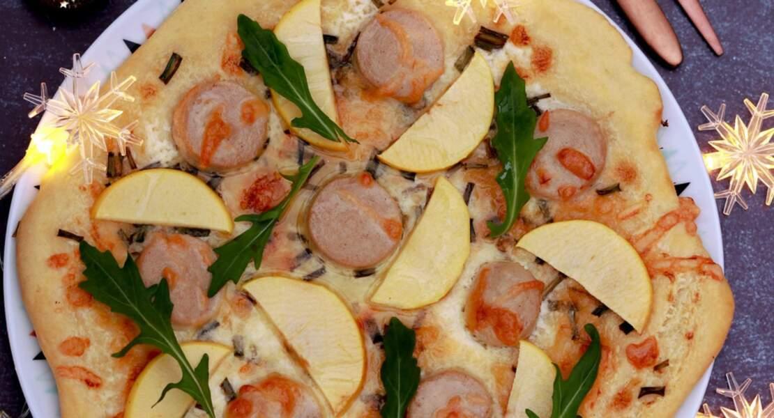 Pizza blanche à la pomme du Limousin et huile de truffe