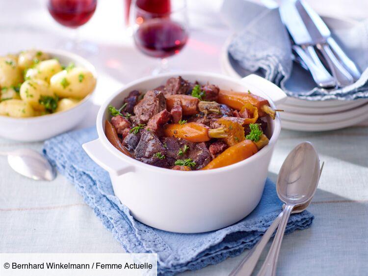 Joue de bœuf à la bourguignonne : découvrez les recettes de cuisine de Femme Actuelle Le MAG