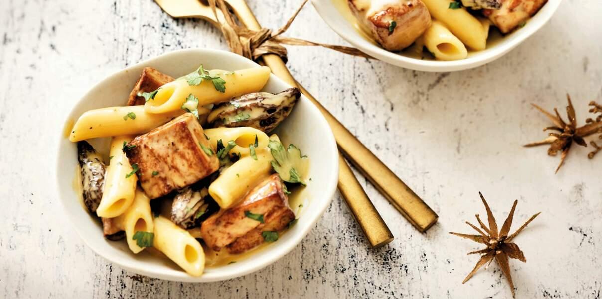 Macaronade au foie gras de canard et aux morilles de Hélène Darroze