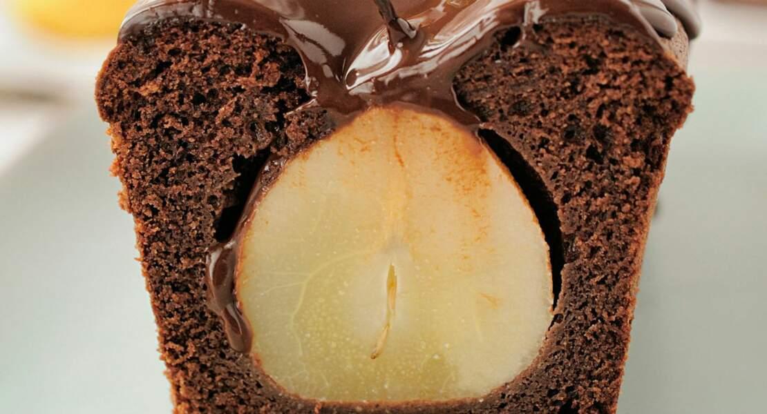 Cake chocolat-poires