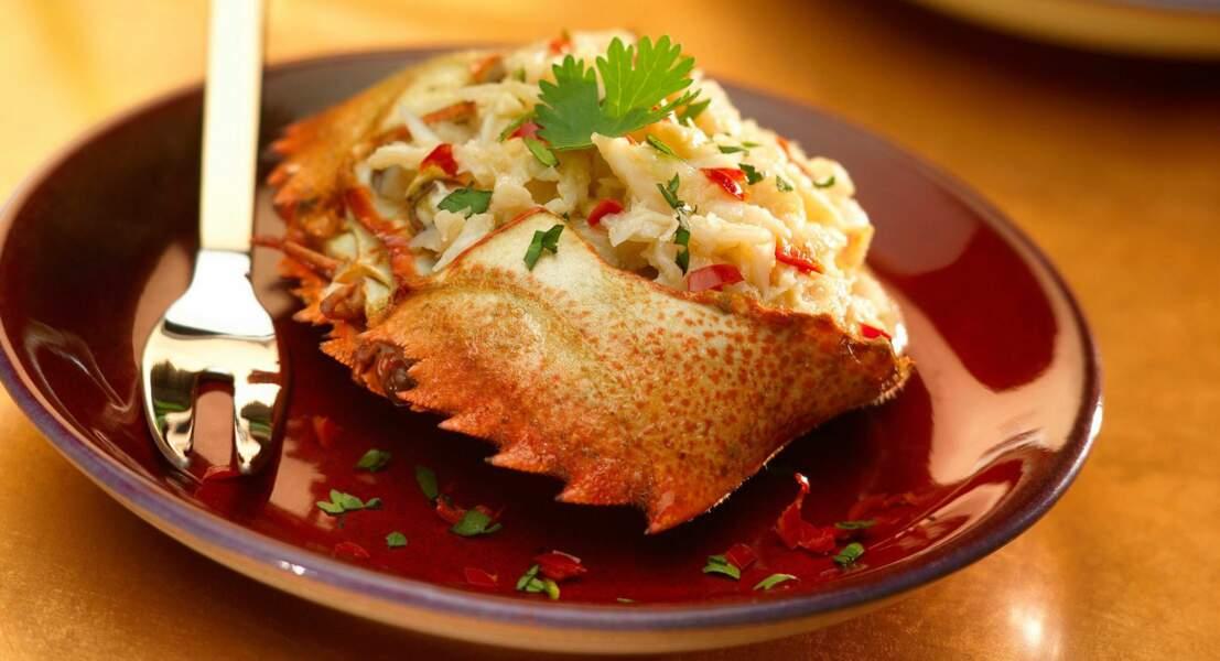 Salade de crabe aux parfums des îles