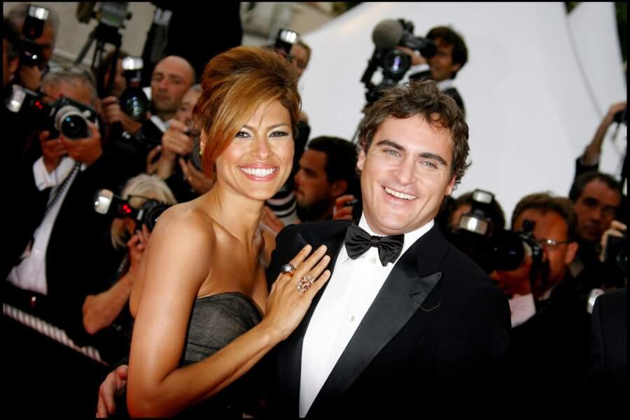 """En compagnie d'Eva Mendes en 2007 pour le film """"We own the night"""""""