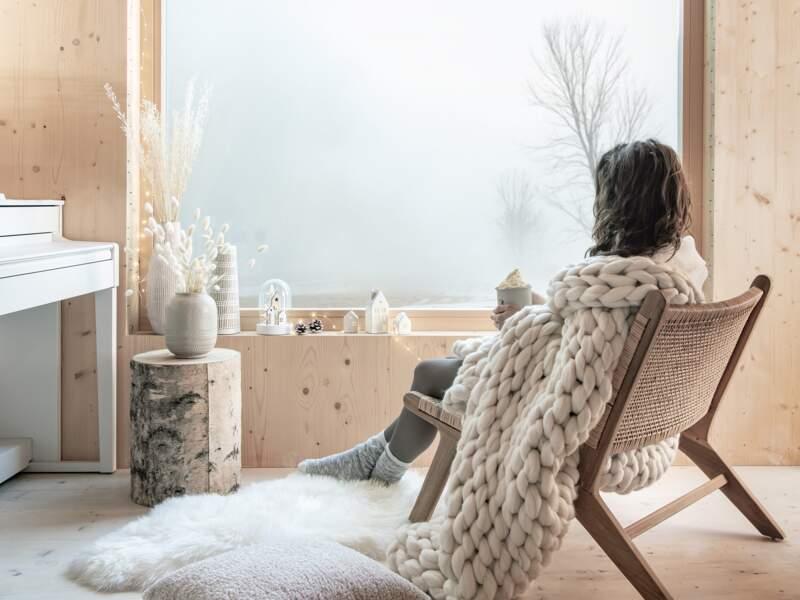 Une déco de salon scandinave pour Noël