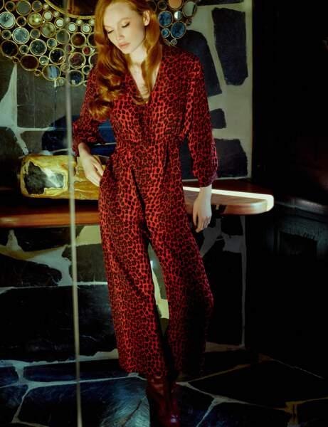 Combinaison pantalon : léopard