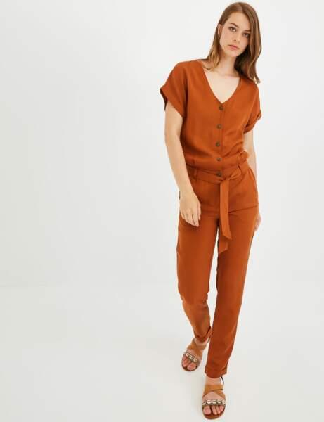 Combinaison pantalon : ocre