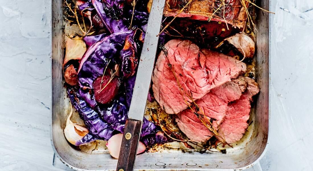 Rôti de bœuf au thym