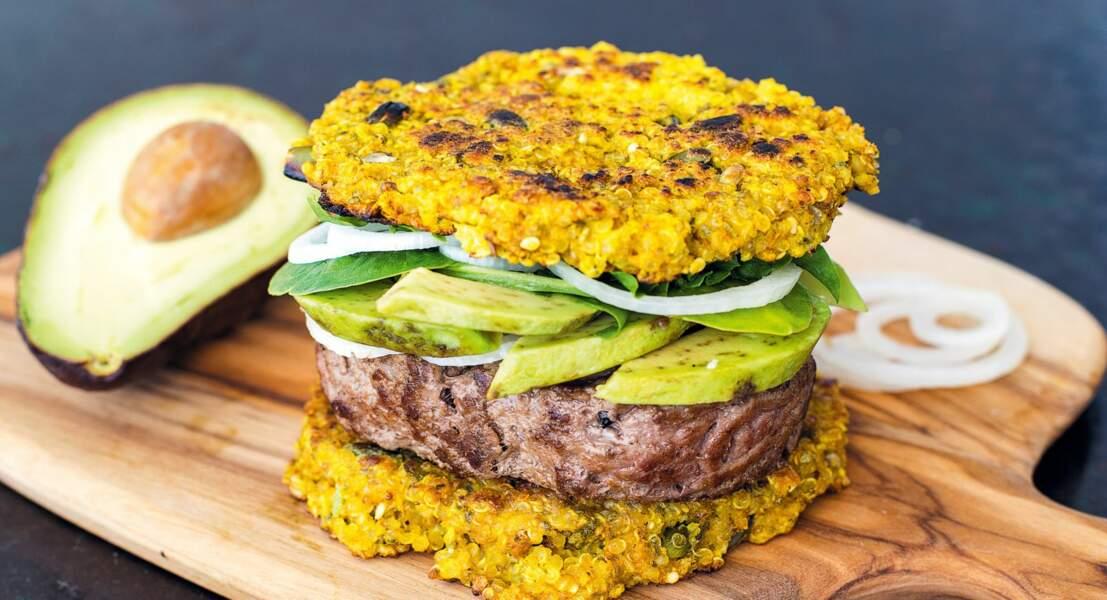 Burger au quinoa