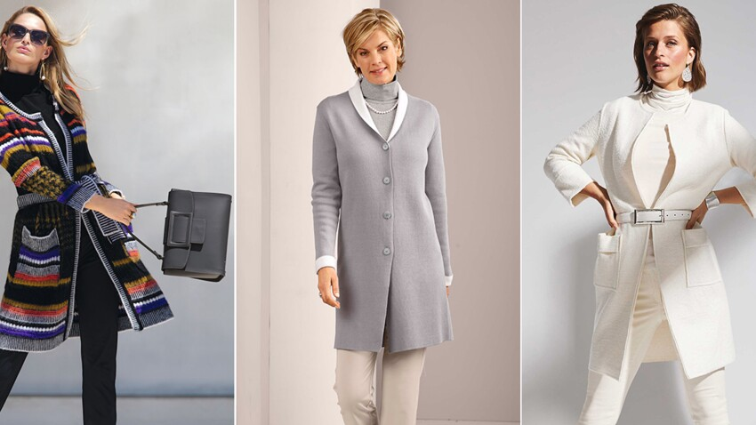 Comment porter le manteau en maille passé 50 ans ?